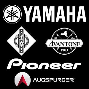 Studio Monitors Logos (Yamaha, Neumann, Avantone Pro. Pioneer and Augspurer)